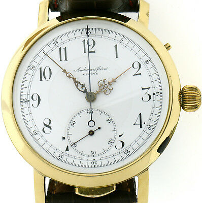Audemars Freres Repetition Chronograph Mariage Herrenuhr Unikat in 750/18k Gold