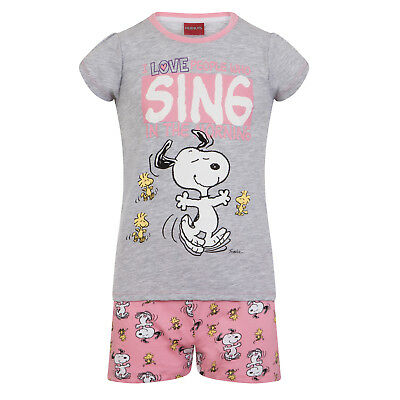 Peanuts Snoopy Official Gift Baby Toddler Girls Short Pyjamas