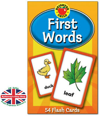 (Brighter Child Flash Cards) First Words *BRAND NEW*