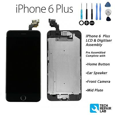 iPhone 6 Plus Retina LCD & Digitiser Touch Screen Full Assembly with Parts BLACK