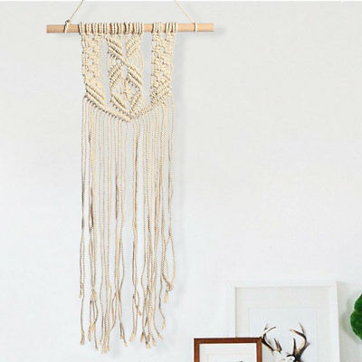 35x85cm Retro Knitted Tassel Macrame Handcraft Wall Hanging BOHO Art Home Decor