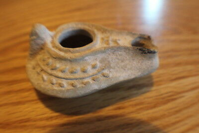 Ancient Holy Oil Lamp AD 100-200 Roman Empire Christian w/ Palm Branches