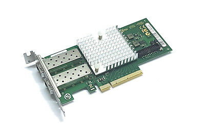 Fujitsu D2755-A11 10Gigabit 10GBe SFP+ Dual Port Server NIC Intel X520-DA2 LP