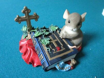"""Charming Tails By Fitz & Floyd Figurine """"words To Live By"""" Inspirational"""