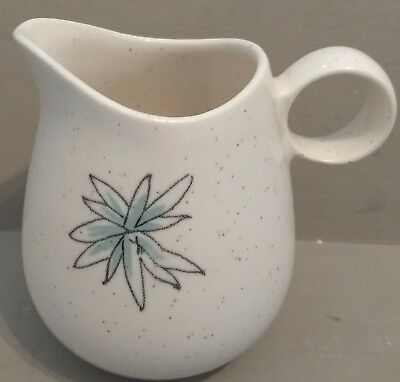 1950s Vernonware California Pottery Atomic Blue Flower Young in Heart Creamer