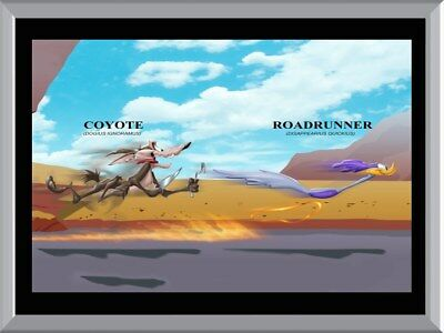 Roadrunner And Coyote A1 To A4 Size Poster Prints