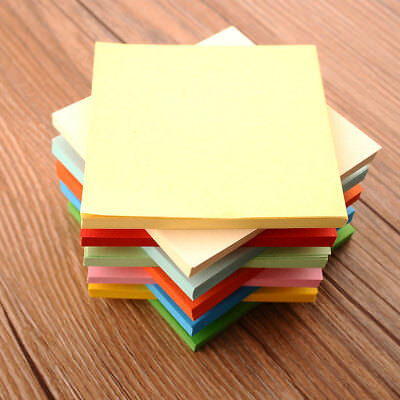 100Pcs Origami Square Hand Paper Double Sided Coloured Sheets Scrapbooking 8CM