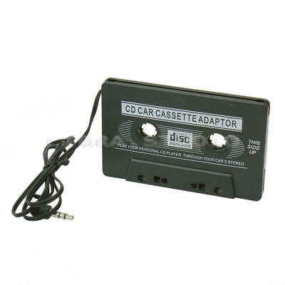 Car Audio Tape Cassette Adapter CD MD Radio Mp3 Mp4 Nano 3.5mm Jack Aux Black