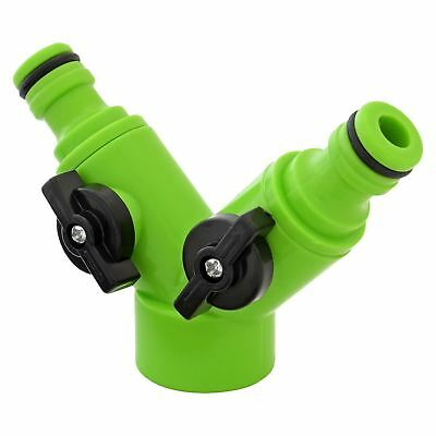 Hose Pipe Two Way Shut Off Adapter Dual Hose Tap Connector Fitting  sc 1 st  PicClick UK & GARDEN HOSE PIPE Two Way Shut Off Adapter Dual Hose Tap Connector ...