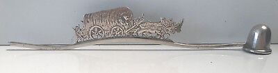 Vintage Sterling Silver Candle Snuffer Figural Pioneers Wagon