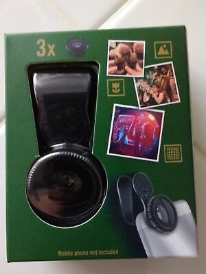 Jagermeister Promotional Phone Camera Lens Fish Eyes Macro Wide Universal Clip