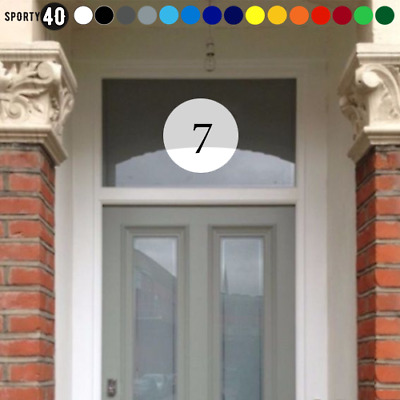 200mm Round Vinyl Number Stickers / Decals - Front Door, Glass, House, window