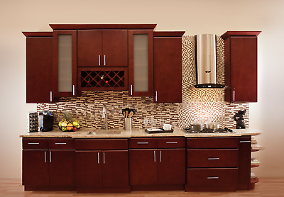 Villa Cherry Wood Kitchen Cabinets Cherry Stained Maple Group Sale
