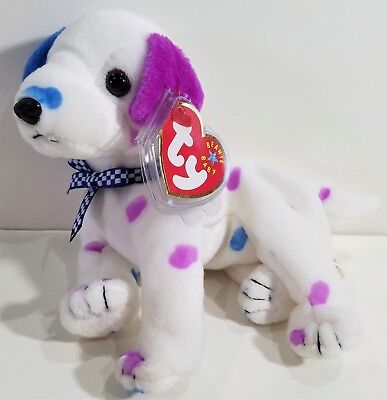 """TY Beanie Babies """"DIZZY"""" (colored ears & spots) the Dalmatian DOG ~ MWMTs! GIFT!"""