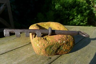 Vintage Antique Large Padlock Door Lock Key Unique, Rare, Collector, Shop 28-06