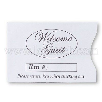 Hotel Keycard Welcome Guest Envelopes Sleeves - Box of 500 Buy 1 or Many!