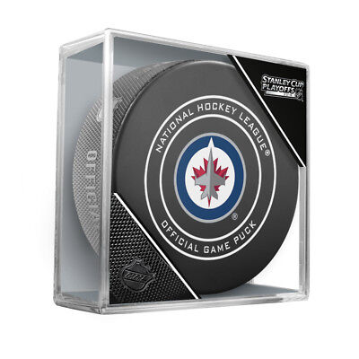WINNIPEG JETS 2018 STANLEY CUP PLAYOFFS NHL OFFICIAL GAME PUCK w/Cube