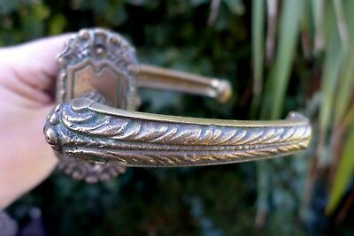 Vintage / antique beautiful brass door handle with brass covers project 28-21