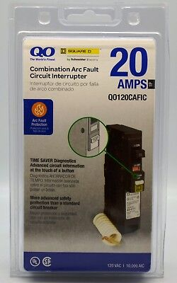 Square D Qo120Cafic Combination Arc-Fault Breaker New Factory Sealed
