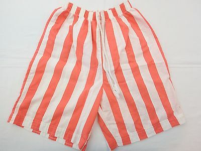 JESSICA SCOTT Womens Used VINTAGE 90s Striped Athletic Casual Shorts Size Medium
