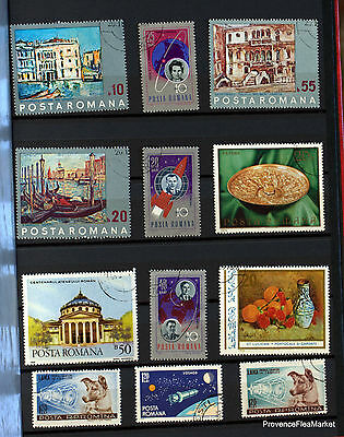 Romania Set Of Stamps Cancelled 88M118