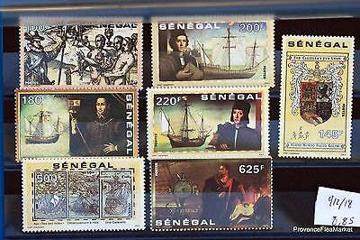 CHRISTOPHE COLUMBUS stamps of the SENEGAL Series fully LUXE Yt 912/8 88M450