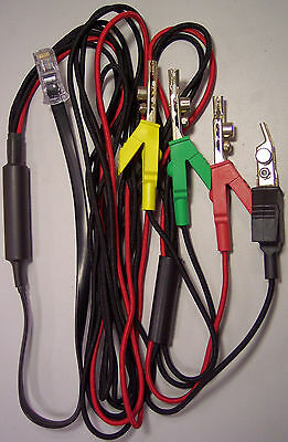 JDSU Test Lead Set with four Aines Telekonnectors 6P Telco-style Alligator Clips