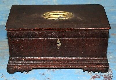 Nice Antique Small Butternut Document Box Chest Trunk