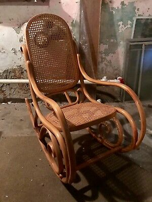 Indoor Wooden Rocking Chair with unique design and carvings - pick up only