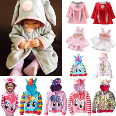 Girls Hoodie My Little Pony Rabbit Ears Hooded Coat Jacket Outewear Clothes
