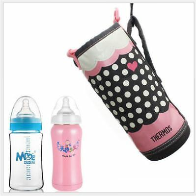 Baby Milk Bottle Cup Insulation Warmer Thermal Bag Tote Pouch Hang on Pram Strap