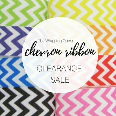 Chevron ribbon, 5m 10m BULK LOT, 20mm wide grosgrain ribbon, party decoration