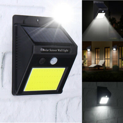 Waterproof 48LED Solar Power PIR Motion Sensor Wall Light Outdoor Garden Lamp