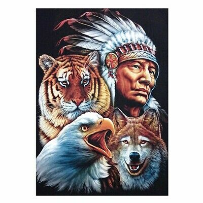Indianer 5D Tier Diamant Malerei Stickerei Diamond Painting Kreuzstich Handwerk