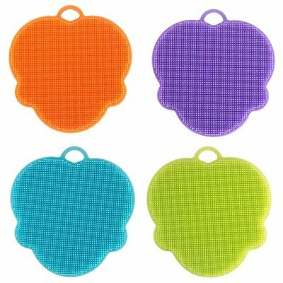 Silicone Dish Sponges Scratch Free Scrubber Antibacterial Multi-purpose Cleaning