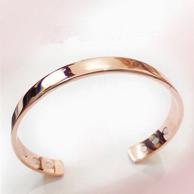 Magnetic Copper Bracelet Healing Bio Therapy Arthritis Pain Relief Bangle New