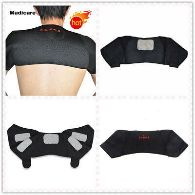 Self Heating Tourmaline Magnetic Neck Heat Therapy Support Belt Wrap Brace