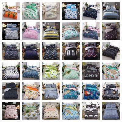 Floral Doona Duvet Quilt Cover Set Double/Queen/King Size New Bedding Pillowcase
