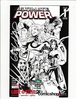 Ultimate Power #1 Signed Coa Greg Land Lonestar Wizard Texas Sketch Variant Rare