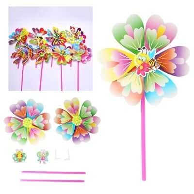 2Pcs/Bag Windmill Kid Toys Animal Yard Garden Ornaments Colorful Outdoor Spinner