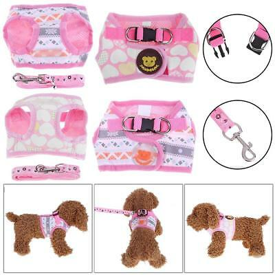 Small Pet Control Harness Dog Puppy Cat Soft Walk Collar Safety Strap Mesh Vest