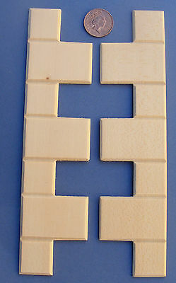 1:12 Scale 2 Wooden Quoin Corner Stones Dolls House Mouldings Strips DIY 64