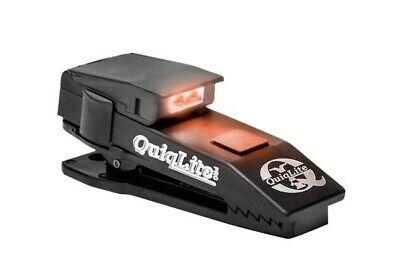 QuiqLite Pro Hands Free Pocket Clip Torch Light Police Security - Red White LEDs