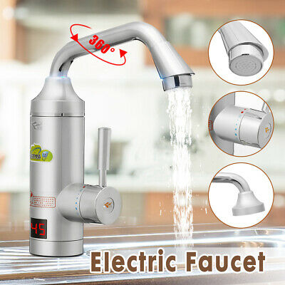 Instant Electric Water Heater Fast Heating Faucet Hot Cold Mixer Tap Kitchen
