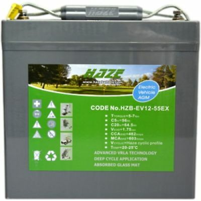 Haze 55AH Battery for Mobility Scooter, Wheelchair HZB-EV12-55EX  V