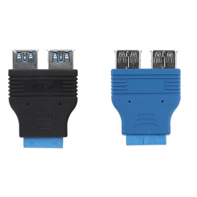 Dual Port USB3.0 Female to Motherboard Female 20Pin Header Connector Adapter