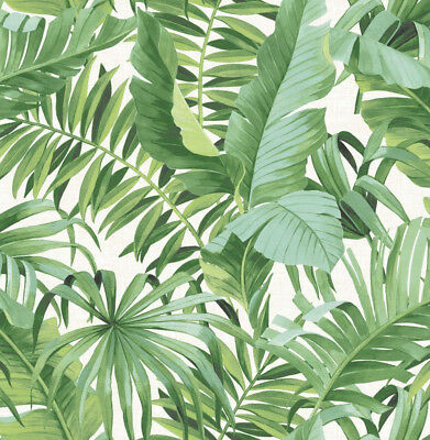 Tropical Green Palm Leaves Wallpaper (4 Rolls in Stock)