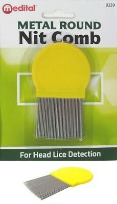 Metal Round Nitty Gritty Nit Hair Comb Remove Head Lice Eggs Nit Comb