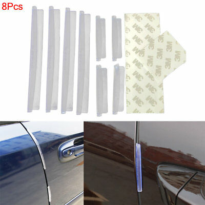 8x Car Door Edge Guards Trim Molding Protection Strip Anti-rub Scratch Protector