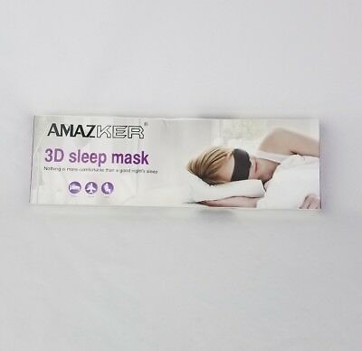 New AMAZKER 3D Sleep Mask & Ear Plugs Large Eye Cavities More Comfortable